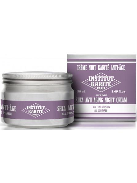 Crème Nuit Karité Anti-Âge - Tous Types de Peaux  50 mL - Nuage de Coton